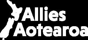Allies Aotearoa Logo in white